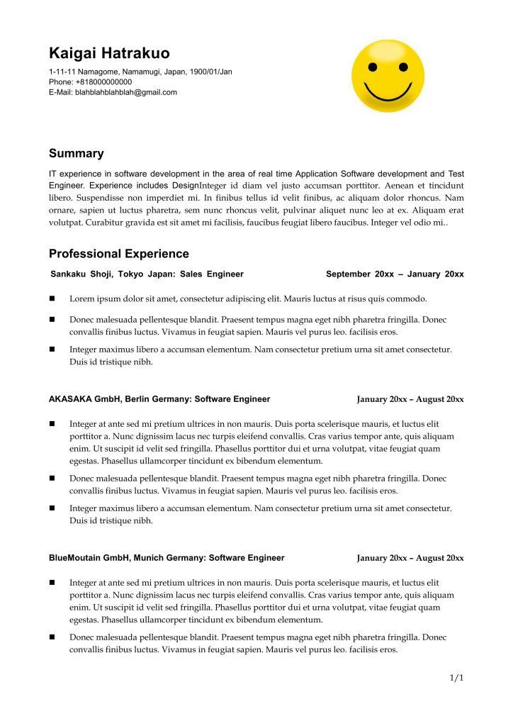 5 resumetemplate01 yelopaper Gallery