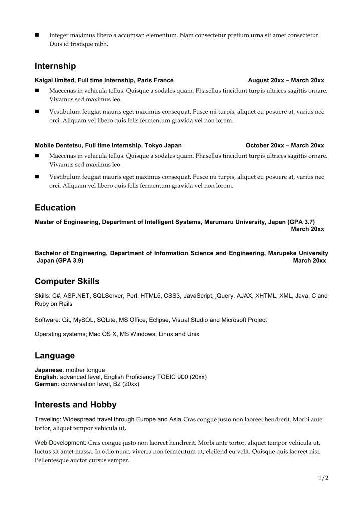 resumetemplate02 yelopaper Images